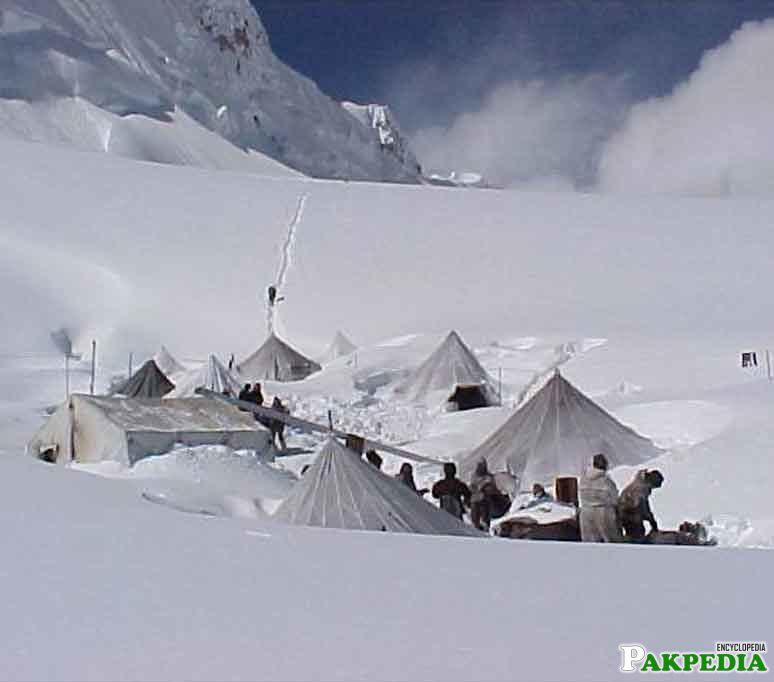 Siachen's army camps
