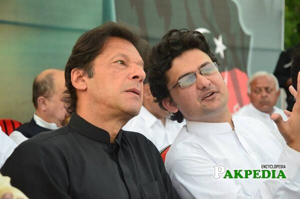 While Discusing with Imran Khan