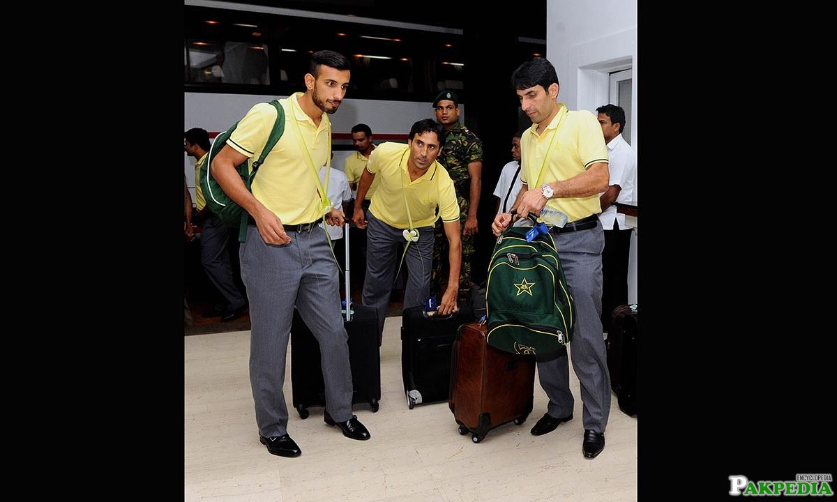 Shan with Misbah-ul-Haq and yunis