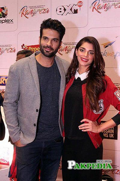 Adnan Malik and Sanam Saeed