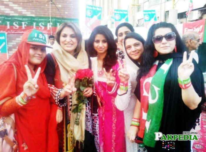 With PTI Supporter