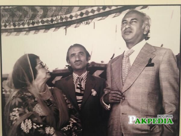 With Shaheed Bhutto