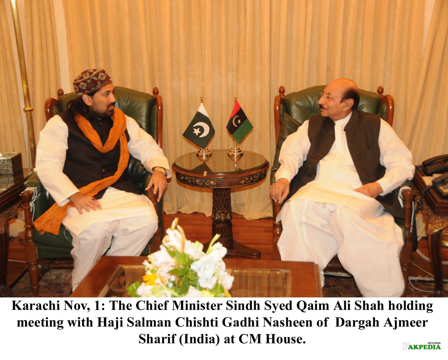With Haji Salman Chishti