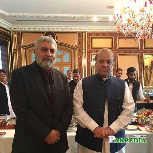 Malik Nadeem Kamran with Nawaz Sharif