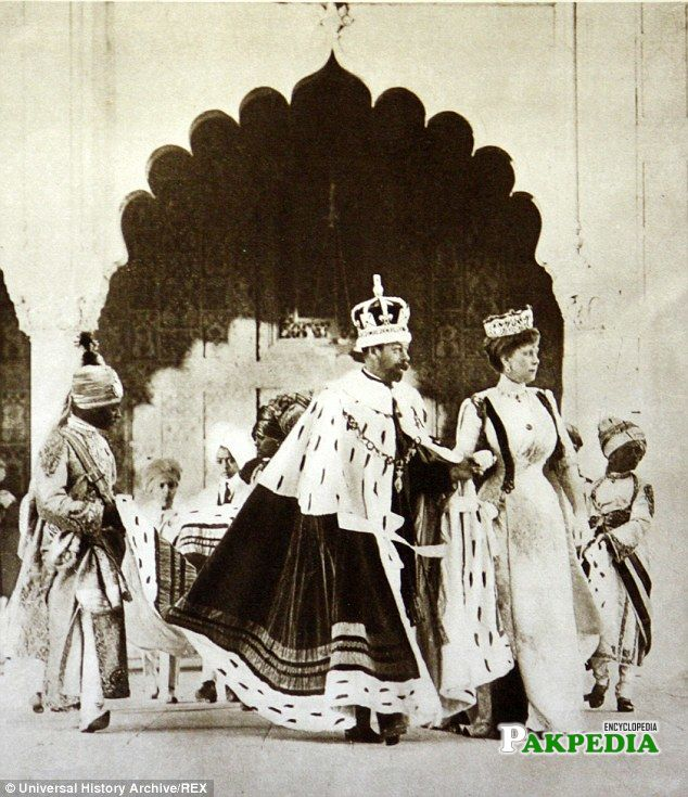 King George v and Queen in Dehli Darbar