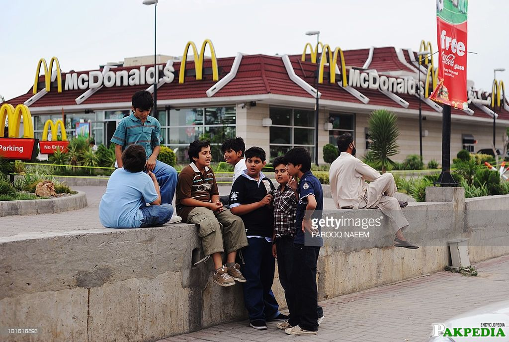 Outside the McDonald