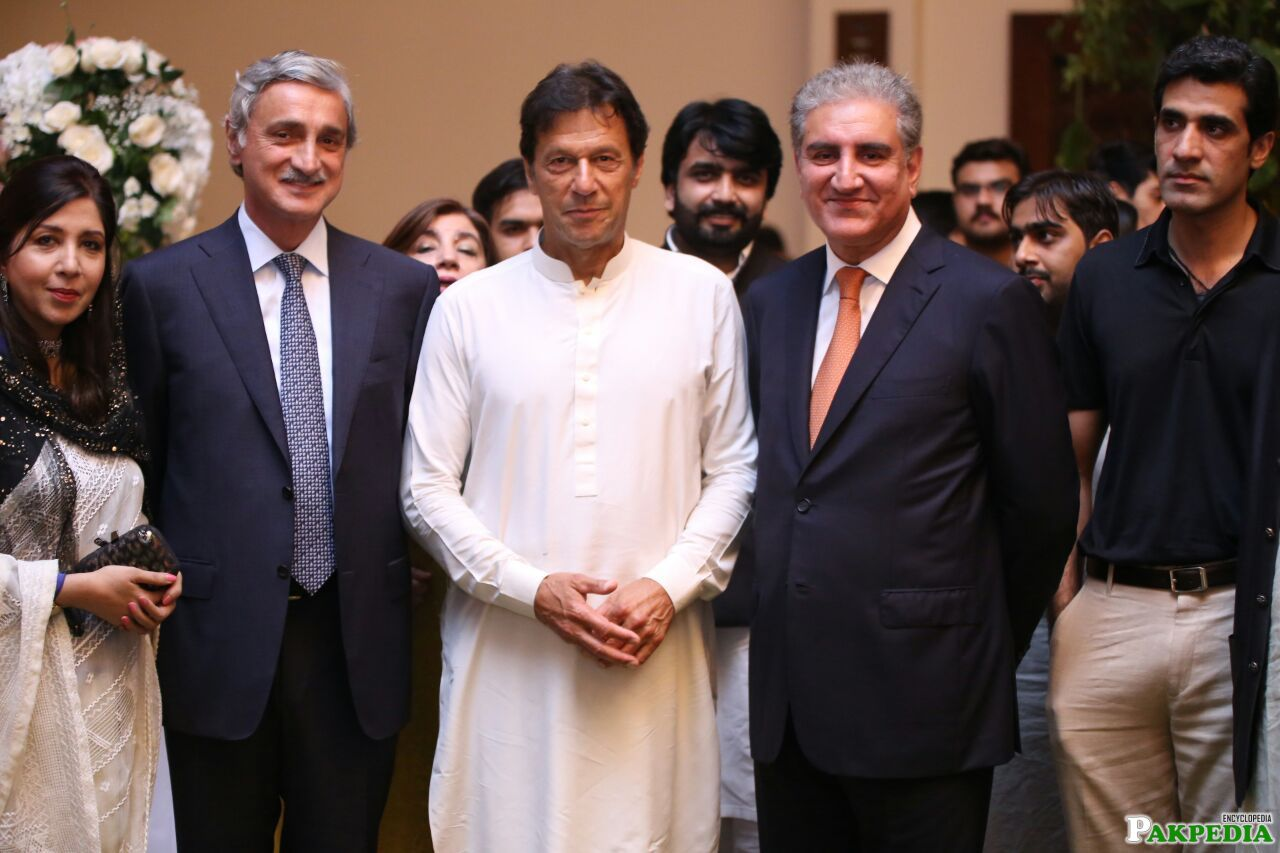 Jahngir Tareen, Imran Khan and Mehmood Qureshi