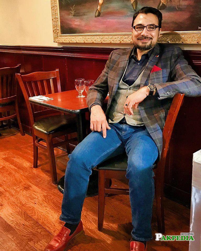 Kazi Manaan in his restaurant