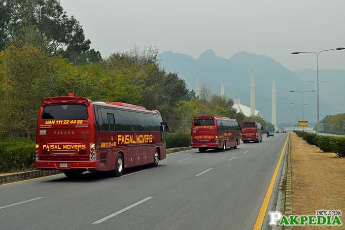 Faisal Movers Routs on Islamabad