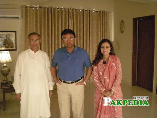 Nisar Memon with Pervaiz Musharaf