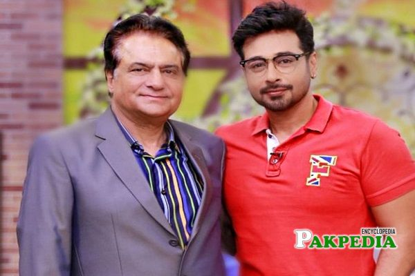 Firdous Jamal with Faisal Qureshi in a morning show