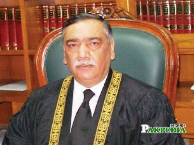 Asif Saeed Khosa appointed as Chief Justice