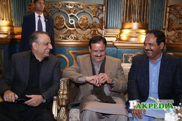 Mian Khalid Mehmood with the CM of Punjab Usman Buzdar