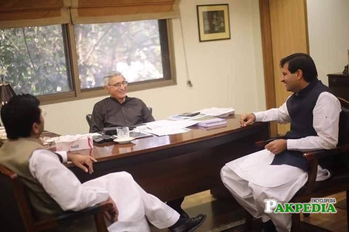 Khurram Ijaz with Jahangir tareen at his office