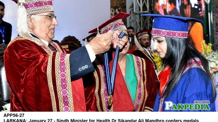 While giving medals among position holders
