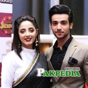 Inayat Khan with Sanam Chaudhry during promotion of movie