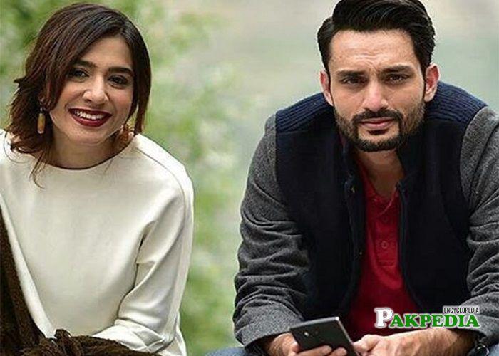 Osama Tahir with Masha Pasha on sets