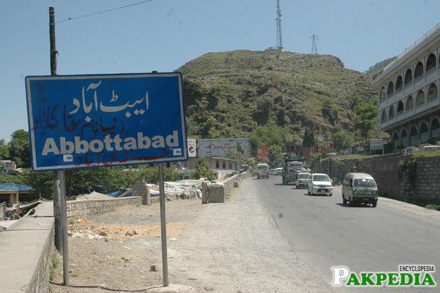 Abbottabad Board Sign