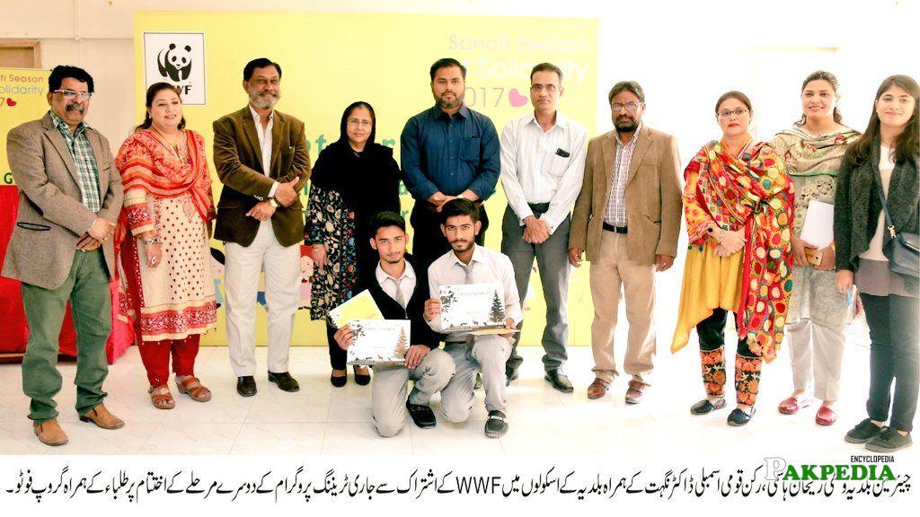 Dr Fouzia Hameed, Syed Ali Raza Abidi, Sumeta Syed and 6 others