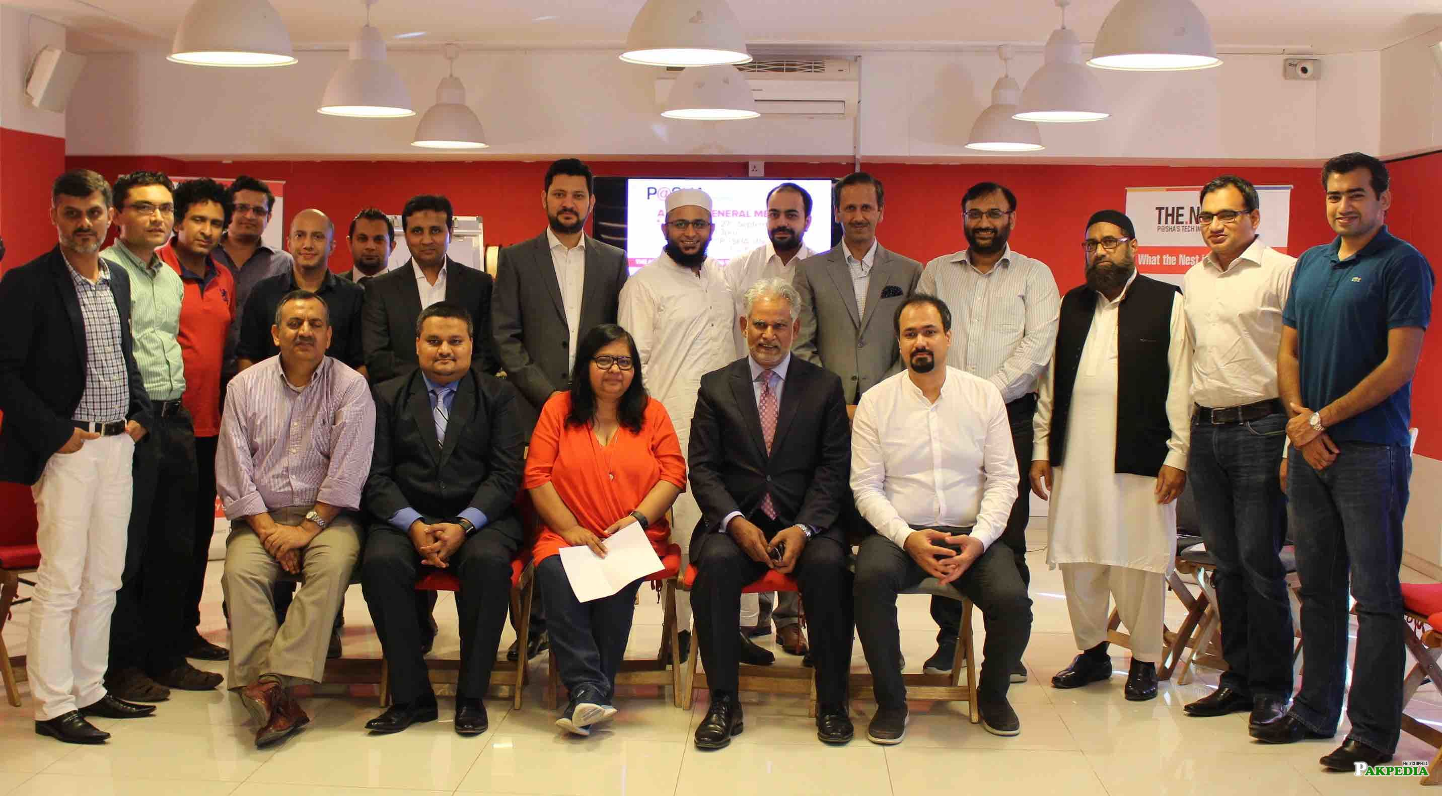 The new Chairman and Central Executive Committee (CEC) of Pakistan Software Houses Association for IT & ITES (P@SHA)