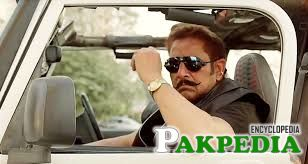 Shafqat Cheema sitting in Jeep