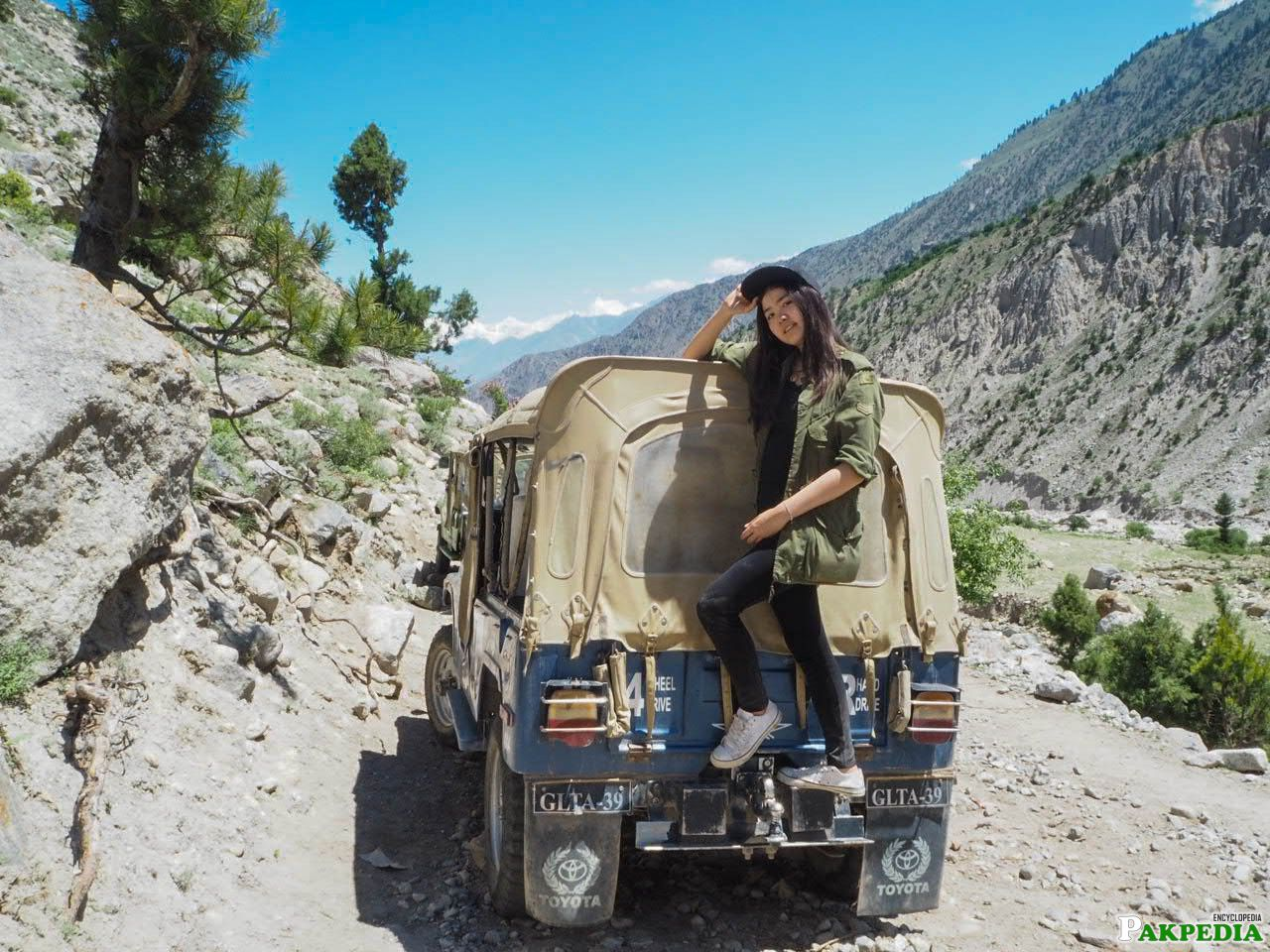 Thai tourist in Gilgit-Baltistan pakistan