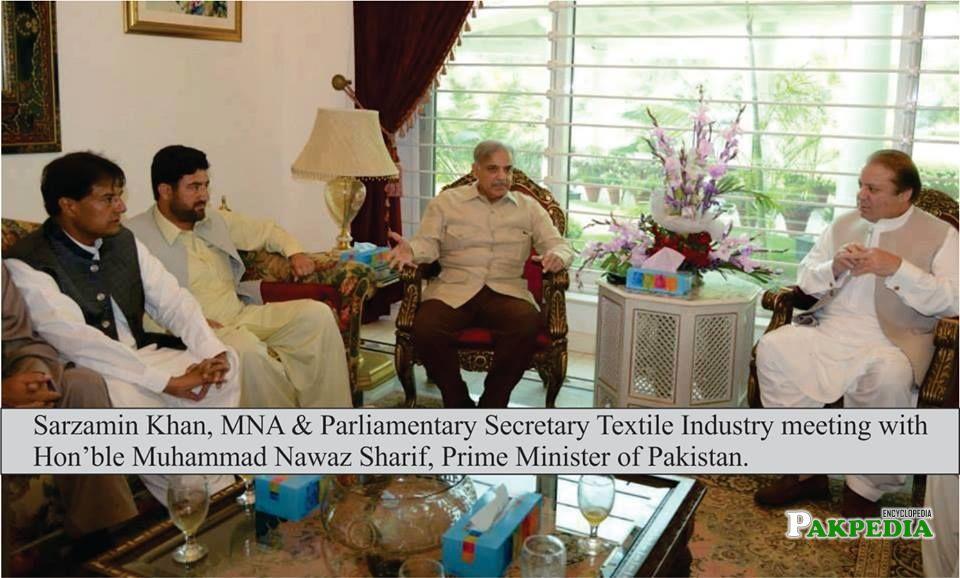 With Nawaz Sharif and Shahbaz Shrif