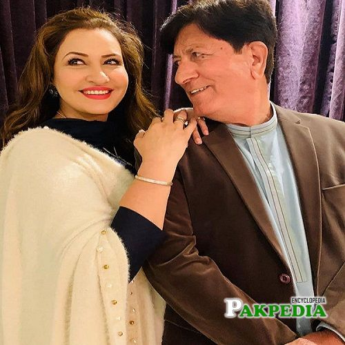 Saba Faisal with her husband