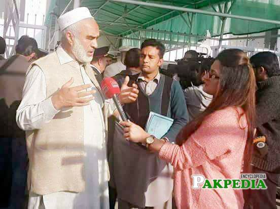 While Talking to Media