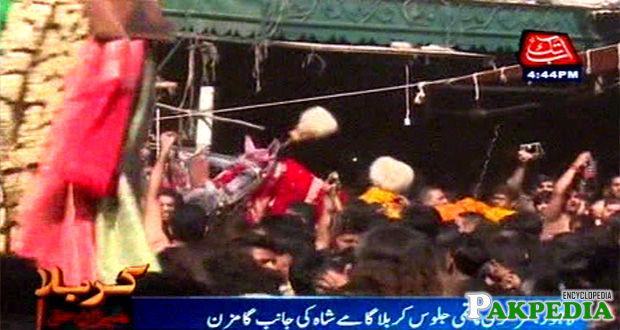 Media coverage of procession