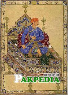 Jahangir on throne