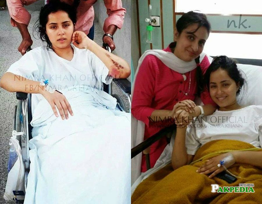 Nimra Khan met with a horrible accident