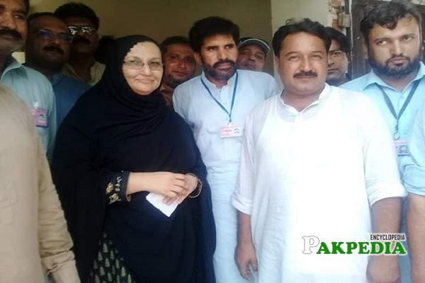 Ashifa riaz during inauguration of new Sui gas