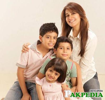 Shaista with her kids