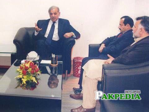 Marghoob Ahmad with Shahbaz Sharif