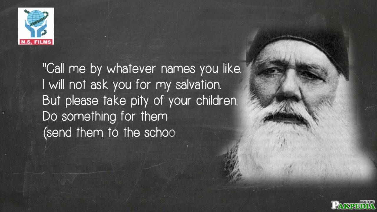 Golden saying Sir Syed Ahmad khan