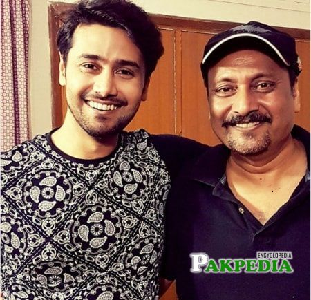 Ali Abbas with his father Waseem Abbas