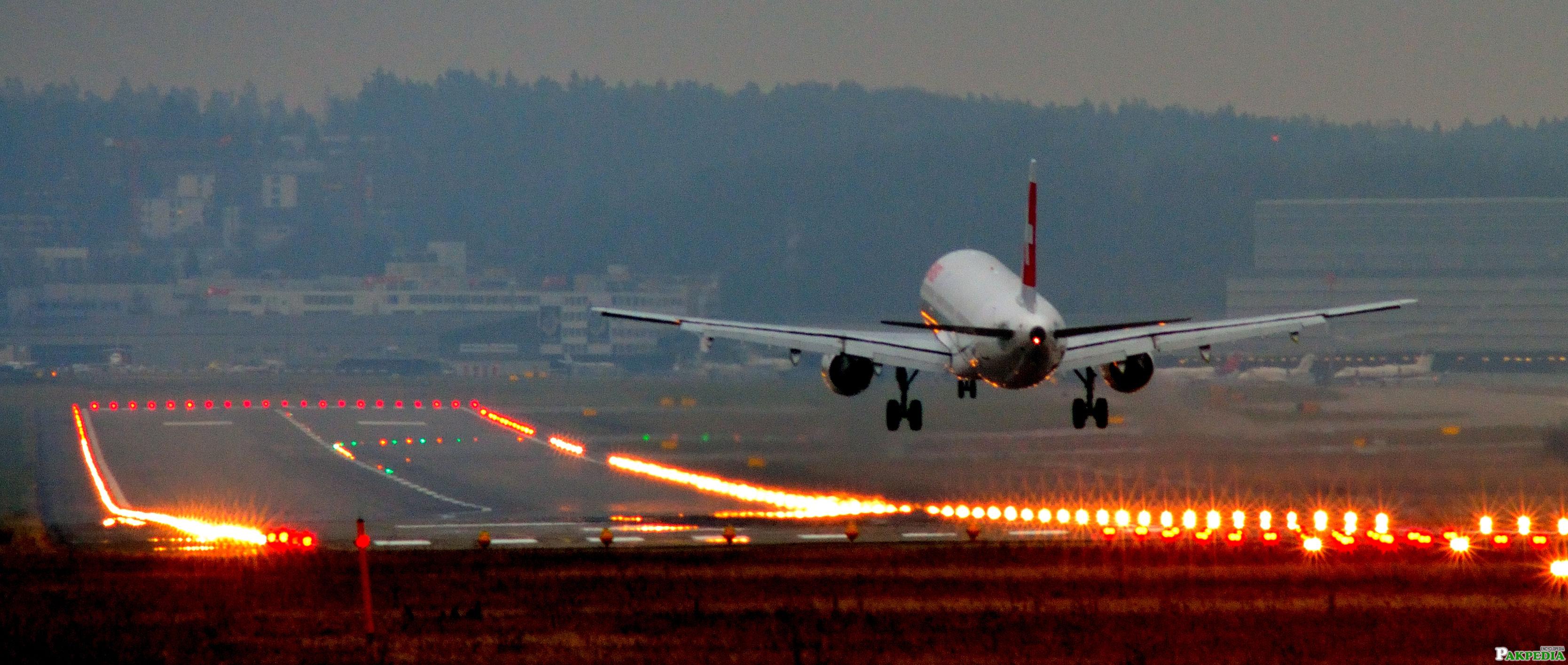 Flight View at Runway