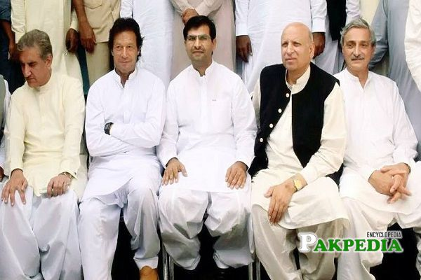 Umar Aftab with the member of PTI