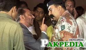 Farooq Sattar with Ranger Officer