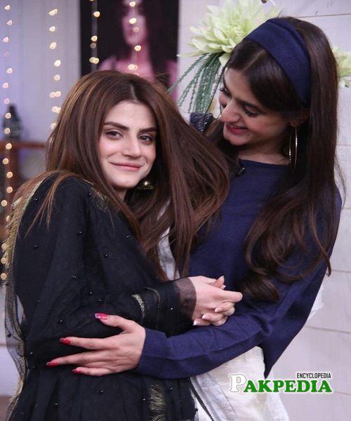 Zubab with Hira Mani