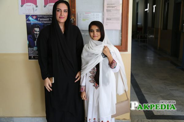 At SZABIST University with a student