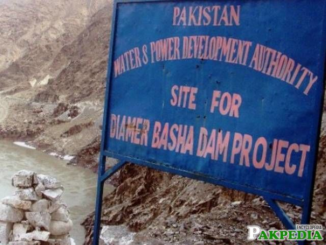 Diamer-Bhasha Dam Sign Board