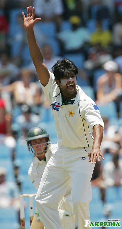 Shahid Nazir In Test Match
