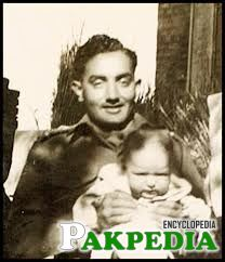 Raja Aziz Bhatti with his son