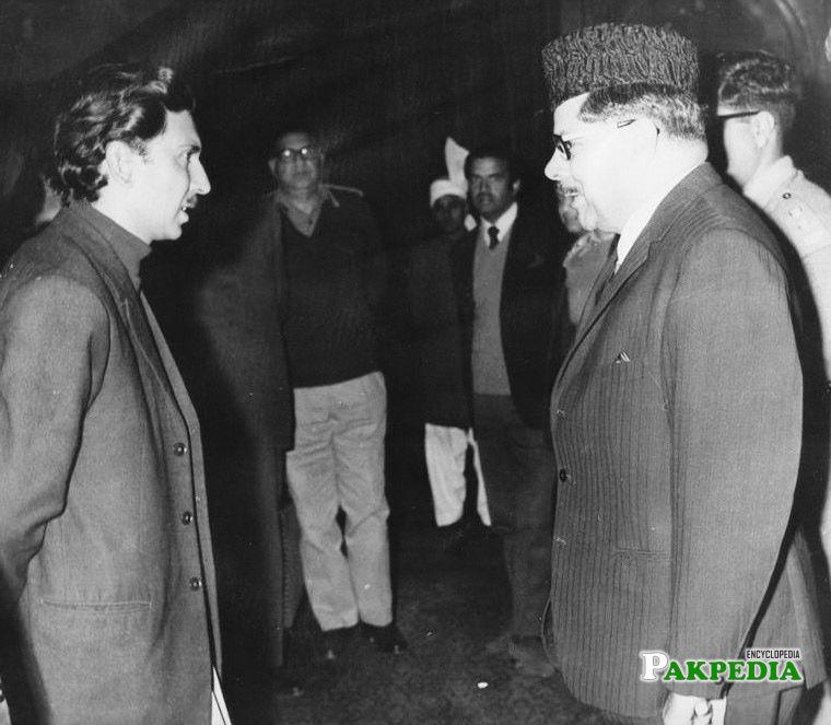 Hayat Khan was on a visit