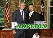 With Ex-US president-J. Bush