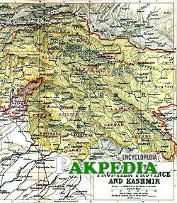 Kashmir's location
