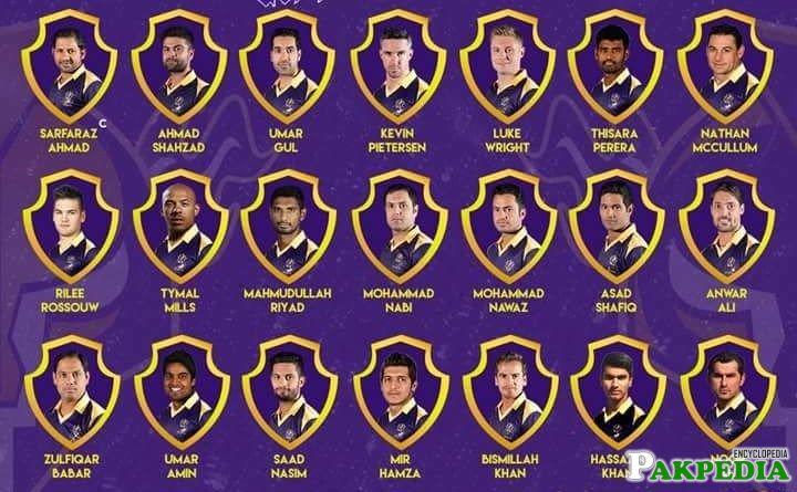 Quetta Gladiators Team