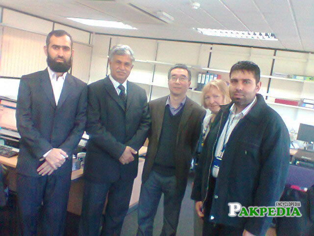 Prof Ihsan Ali in meeting with Prof Zidong Wang in his office
